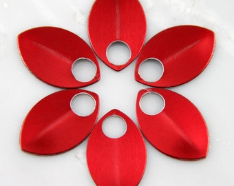 Red Anodized Aluminum Scales, 50 Small