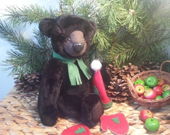 "Artist teddy bear , Handmade teddy bear, Oliver - 27 cm or 10,6"" inches plush artist bear, OOAK bear"