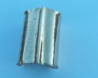 Vintage 70's Hand Made Hammered Brass Cuff Bracelet