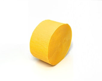 Canary Yellow Crepe Paper Streamer Roll - 81 Feet Long - Paper Craft Party Supplies