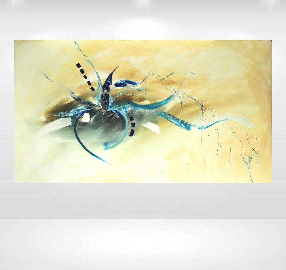 Acrylic abstract painting oversized art painting modern for Moderne acrylbilder wanddekorationen