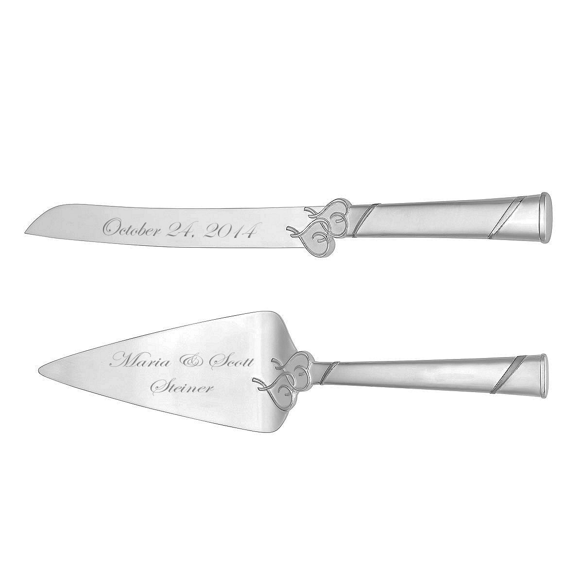 wedding cake server set engraved locked in love cake knife. Black Bedroom Furniture Sets. Home Design Ideas