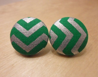 Kelly Green Chevron earrings