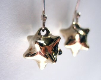 Seed earrings / sputnik earrings in bronze