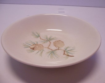 Fruit, Dessert, Sauce Bowl in the Pine Cone Pattern by French Saxon China Made in USA
