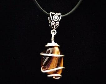 Pendant Necklace Genuine Tigereye