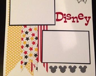 Disney premade Scrapbook page