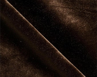 Stretch Velvet Fabric By the Yard BROWN
