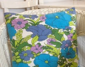 Handmade cushion made with vintage french fabric
