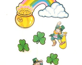 Vintage St. Patrick's Day Mobile, Wall Hanging