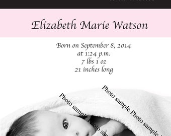 """Baby Announcement """"EACH"""" (WITH ENVELOPES)"""
