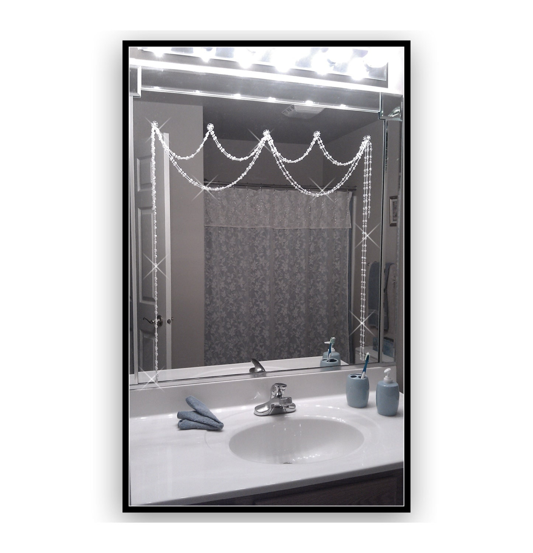 Innovative  Bathroom Mirror Shabby Chic Hand Painted Ornate Hanging Mirror