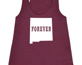 Womens New Mexico Forever Tank Top - American Apparel Tri Blend Racerback Tank - XS S M L