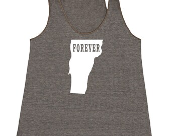 Womens Vermont Forever Tank Top - American Apparel Tri Blend Racerback Tank - XS S M L