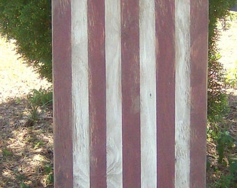 Vertical Distressed Patriotic American Flag wall decor
