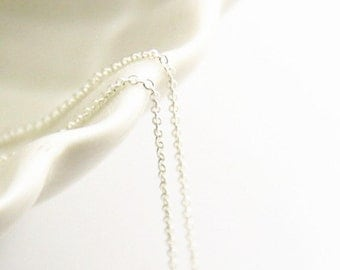 6 meters of O shape brass chain 1mm -9904-Sterling silver