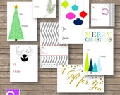 Holiday Gift Tag Assorted Printable Holiday Gift Stickers DIY Tag