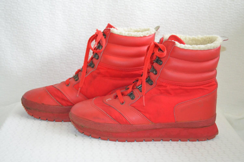Men's Red 'Roffe' Winter Snow Boots Men's 10