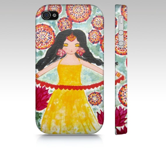 ,Boho Iphone case,Whimsical art iPhone Case,iPhone 4 and 4s Accessory