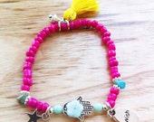 Bohemian Summer - pink and hamsa