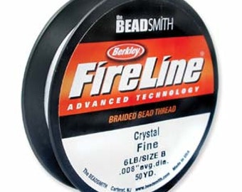 6 LB FireLine Crystal .006 In/.15mm Dia _ 50 Yard
