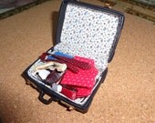 Dollhouse man's weekend suitcase, packed with essentials   PM 73
