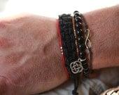 Mens Delica Bead Bracelet - Steling Selver Accent Beads