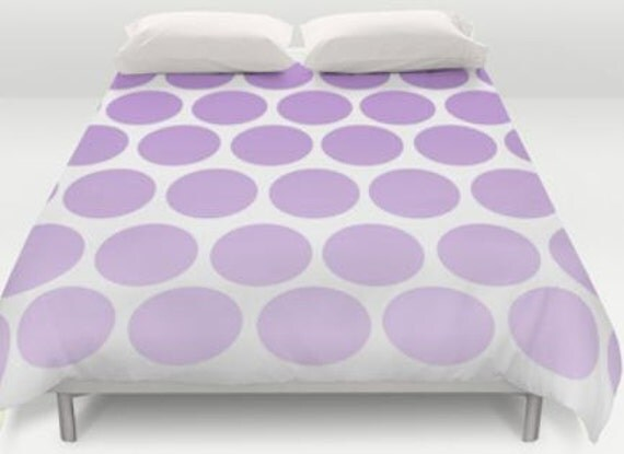 Bed Cover Purple Polka Dots Duvet Cover Only Bed Spread