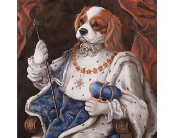 King Charles Spaniel Prints, King Murphy,  Spaniel Gifts