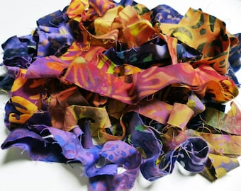 RESERVED do not purchase! Batik Ribbons 10+ yd Spinning Add-ins/Jewelry Making