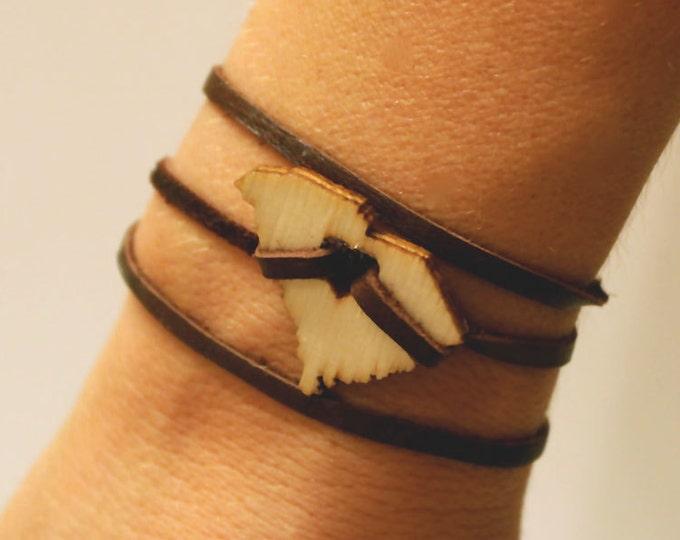 South Carolina Leather Wrap Bracelet