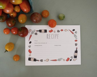 Illustrated Recipe Card Set