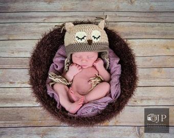 Crochet birds nest, newborn photography prop