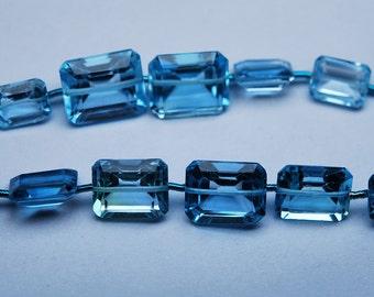 9 Pcs,AAA Swiss Blue Topaz Micro Faceted Cushion Shape 6-9mm