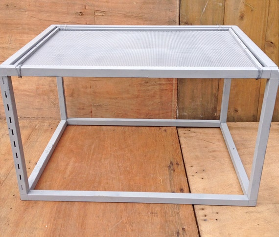 Industrial Looking Grey Metal Coffee Table