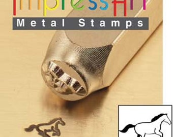 Impress Art 6mm Galloping Horse Metal Design Stamp - Metal Stamp - Metal Stamping and Jewelry Tool - SGSC156-W-6mm