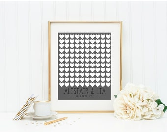Wedding Guest book | Wedding Sign | Guest Book Wedding | Hearts