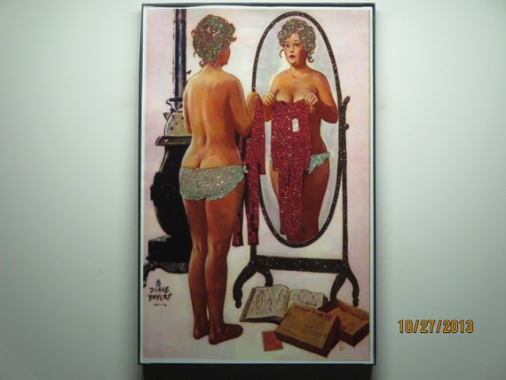 Glittered Poster - Hilda Pin Up - Just My Size?