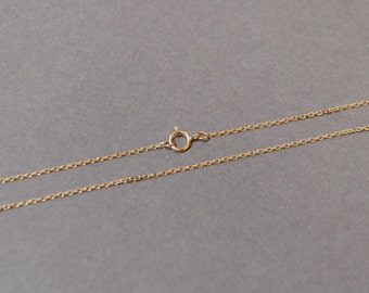 "1.4mm Solid 10K Yellow Gold Diamond Cut Cable Pendant Necklace Chain - 19"", 20"", 21"", 22"", 23"", 24"""