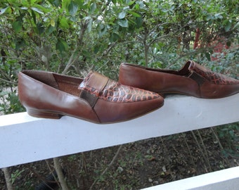 """Leather Shoes """"Valet"""" By WILD PAIR / Vintage / Sz 8 B / BRAZIL"""