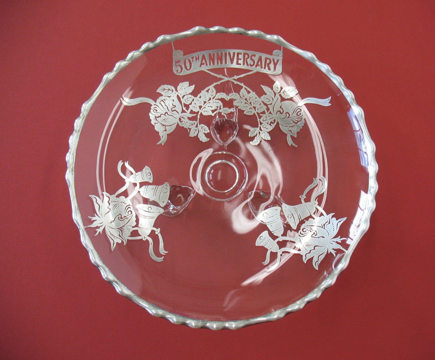50th Wedding Anniversary Traditional Gifts: Anniversary Gift 50th Wedding Anniversary Plate Silver Wedding