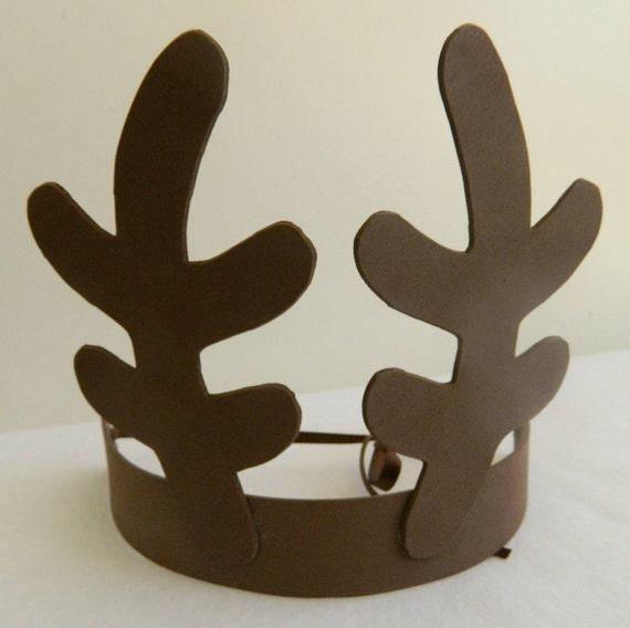 Party pack reindeer antlers headbands christmas rudolph for Reindeer antlers headband craft