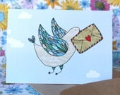 Carrier Pigeon - Greeting Card