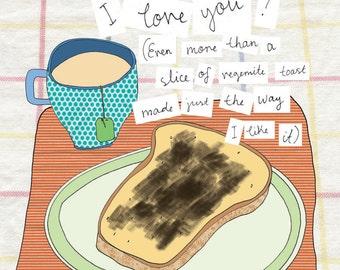 Print / Square - Vegemite Toast