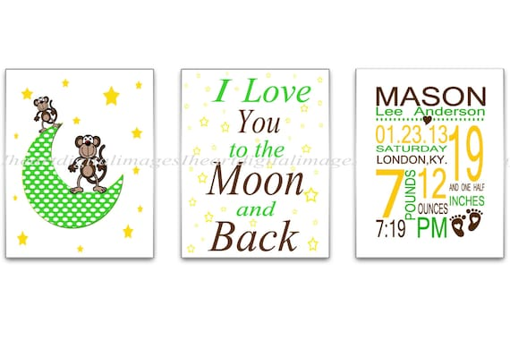 personalized i love you to the moon and by iheartdigitalimages. Black Bedroom Furniture Sets. Home Design Ideas