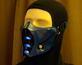 Mortal Kombat Sub-Zero Mask v.1 with front LED Airsoft Cosplay DJ Rave mask - made to order -