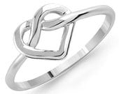 Infinity Heart Ring (Sterling Silver/18K Gold Plated/Rose Gold Plated)