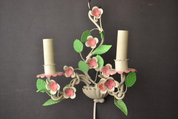 Beautiful Italian tole Flower sconce
