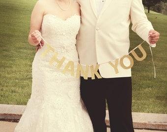 Thank You Glitter Banner: Wedding