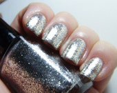 Moonlight (Clair de lune) - 15ml - real silver flakie - SUPER shiny - nail polish by Indigo Bananas